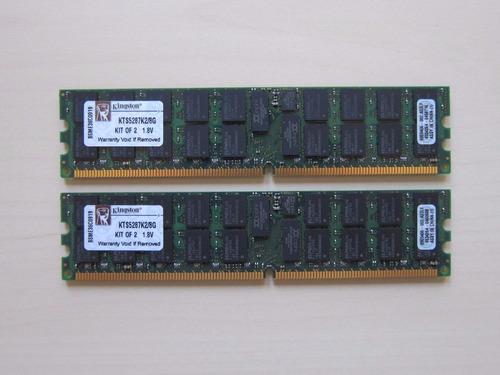 ram kingston kts5287k2/8gb 2x4gb servidor sun fire x2200 m2