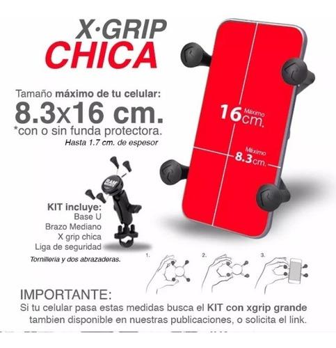 ram mounts base xgrip chica para celular