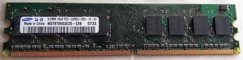 ram pc 512 mb ddr2 sdram 240 pines 667 mhz