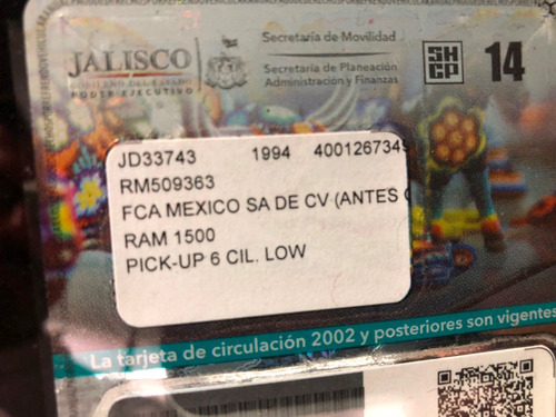 ram pick up blanca dodge 1994