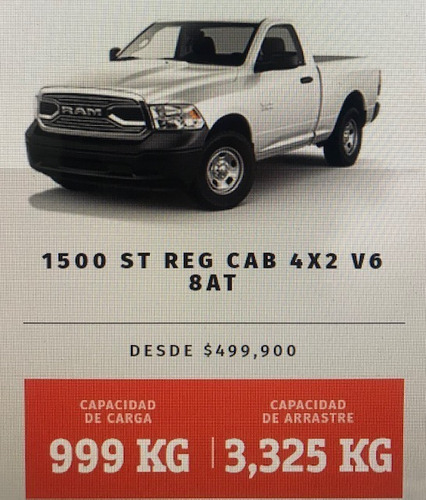 ram st 3.6 1500 regular cab 4x2 mt 2014