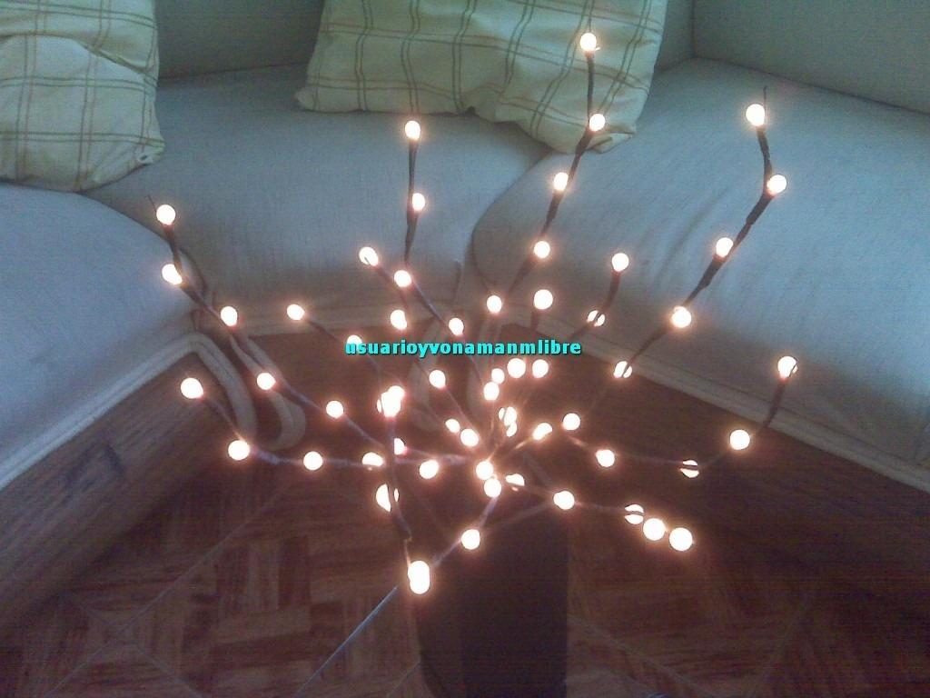 Ramas con 60 luces rama caf o rama blanca hermosas for Ramas blancas decoracion