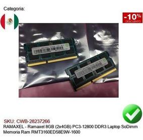 Ramaxel 8GB 2x4GB PC3-12800 DDR3 Laptop SoDimm Memory Ram RMT3160ED58E9W-1600