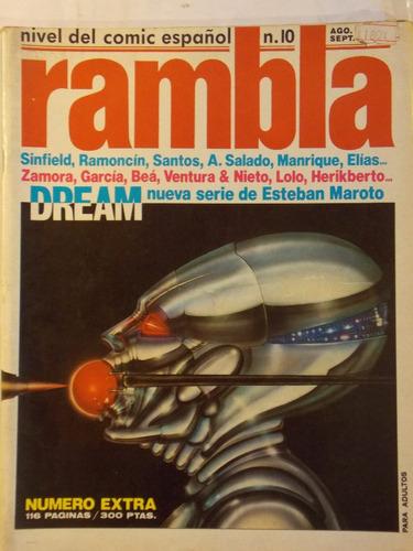 rambla, comic español, nº 10, 116 pag 1983
