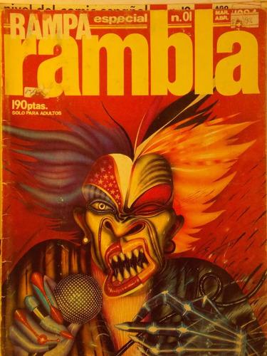 rambla especial, comic español, nº 1, 68 pag 1984