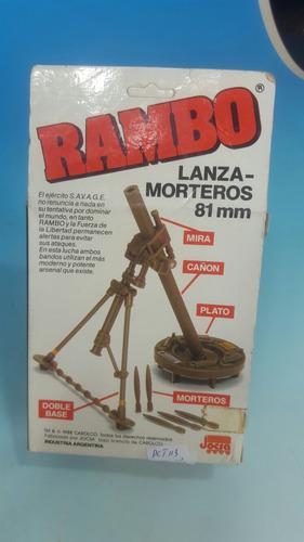 rambo jocsa - lamzamorteros 81 mm - nuevo en caja original