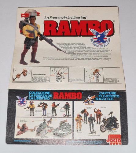 rambo - turbo - jocsa - completo y con cartón