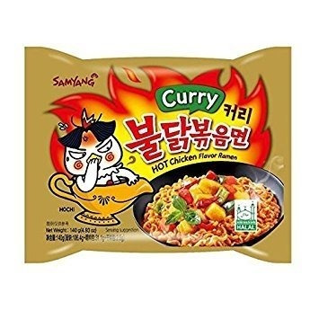 ramen coreano salteado wok curry ultra hot chicken exclusiv!