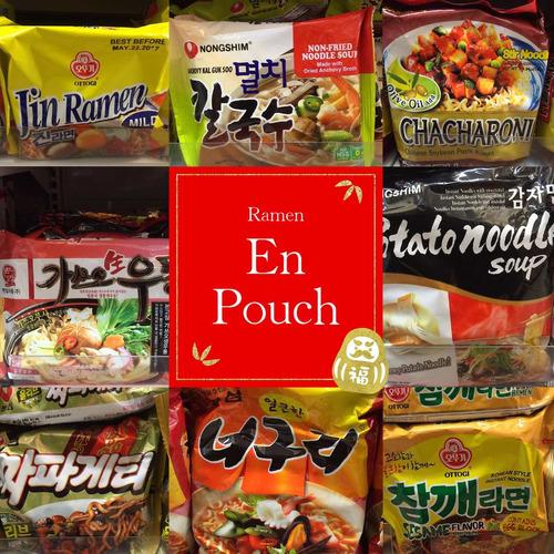 ramen coreanos en pouch! exclusivo sabores variados! elegi!