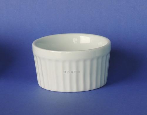 ramequim de porcelana buffet pequeno 75 ml - caixa 50 unid