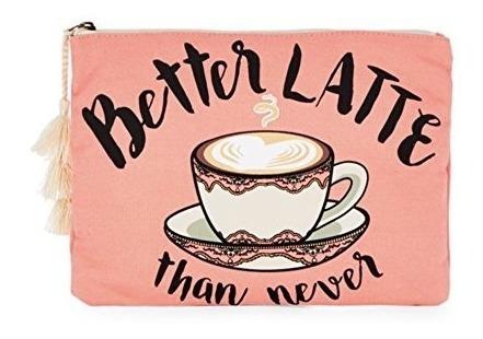 ramita flecha impreso funda con cierre mejor latte que nunca