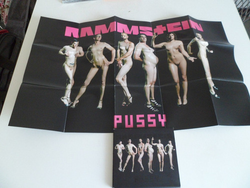 rammstein - pussy cd single inc poster