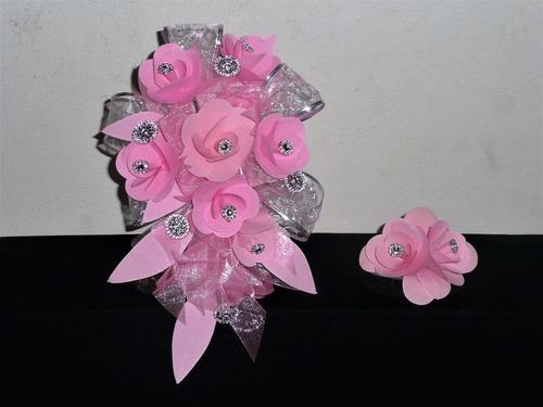ramo bouquet de novia o xv años con cristal boda