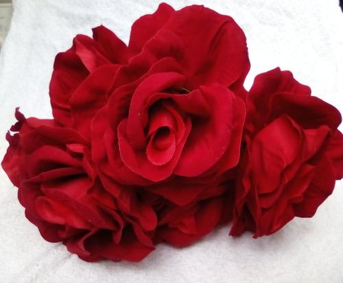 ramo de 6 rosas, rojo terciopelo,san valentin , arvc81