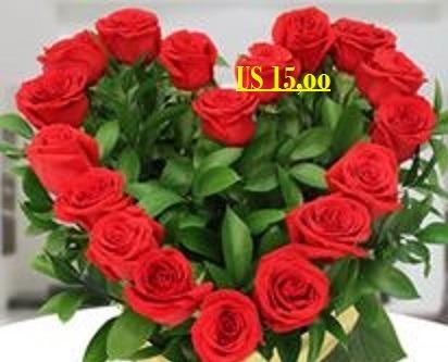 Ramo De Flores Forma De Corazón Lá Floristería Us 1500 En