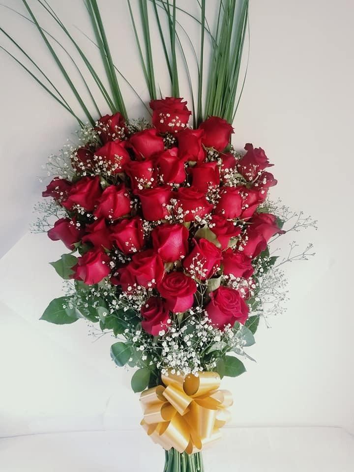 Ramo De Flores Naturales 36 Rosas Rojas Envios A Domicilio 1 800