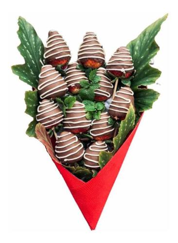 ramo de frutillas chocolate bombones regalo cumpleaños