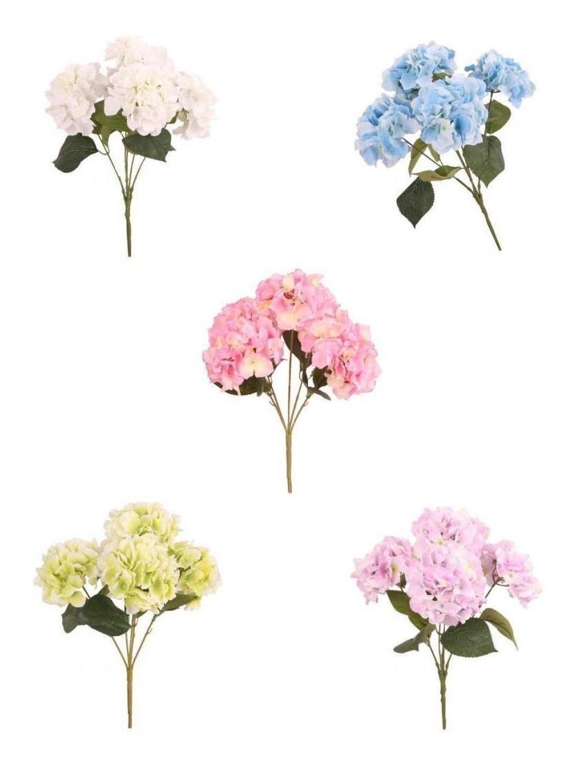 5 cabeza verde mediano Rose Racimo Ramo De Flores Artificiales
