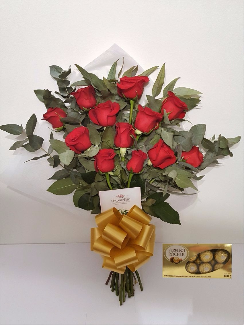 Ramo De Rosas Flores Naturales M Bombones Envíos 102500 En