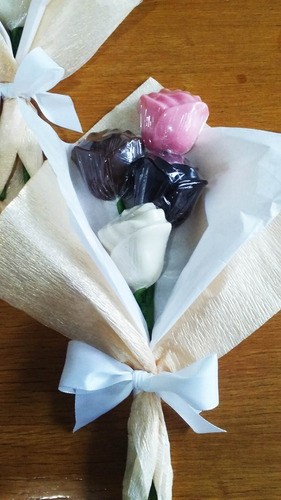 ramo flores de chocolate