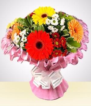 ramo gerberas, flores y mas !! entrega sin cargo capital