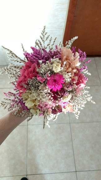 Ramo Novia Flores Preservadas Siempre Vivas 2 200 00 En Mercado
