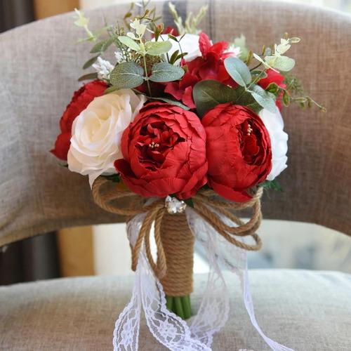 ramo novia quinceañera delicado vintage rosa champagne bello