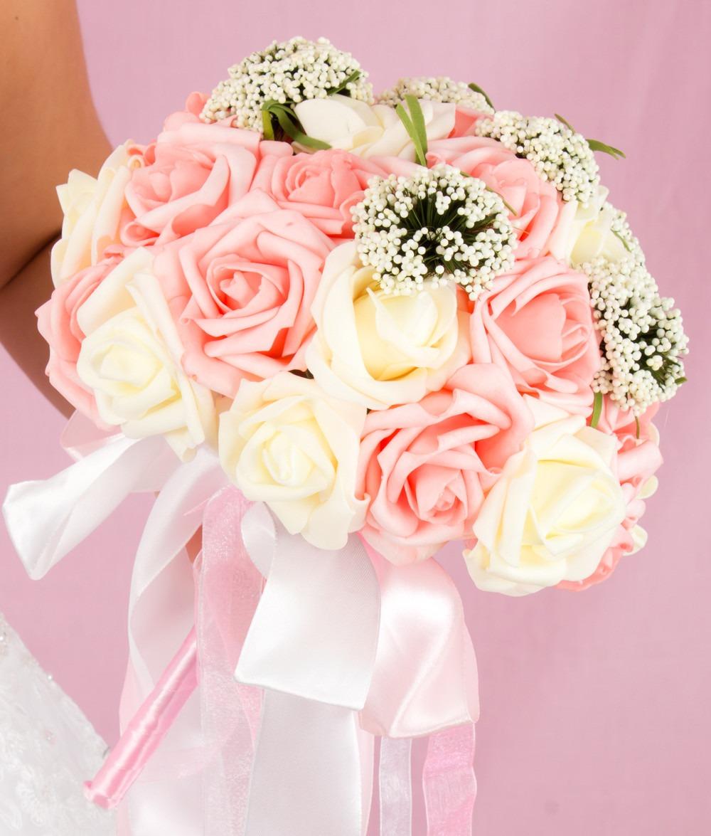Ramo Para Novia O Xv Anos Incrustaciones Bouquet Con Rosas