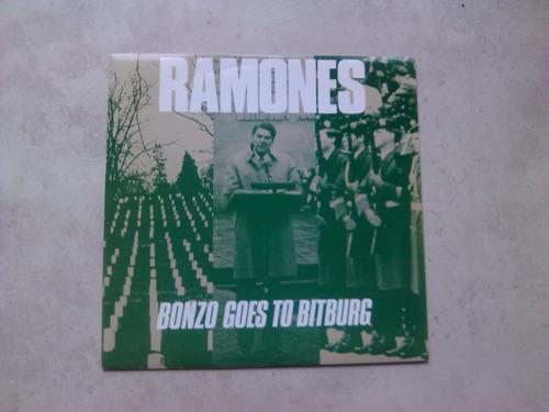 ramones - bonzo goes to bitburg vinilo 1986 uk excelente 7