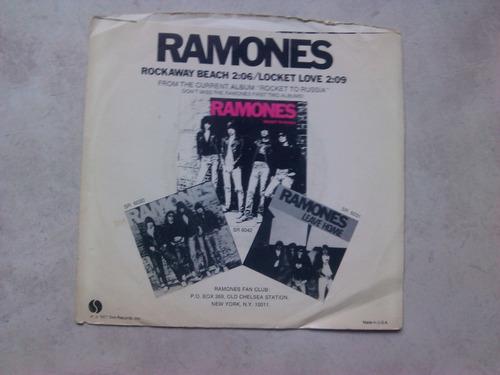 ramones - rockaway beach vinilo 1977 usa 7 pulgadas