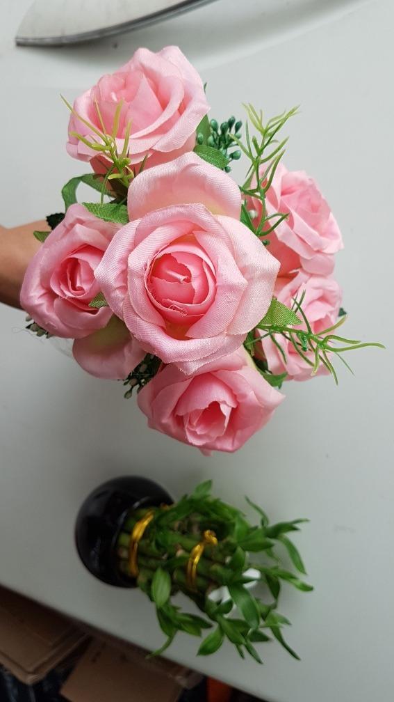 Ramos De 6 Rosas Blancas Salmon Rosado Hermosas Decoracion - $ 109 ...
