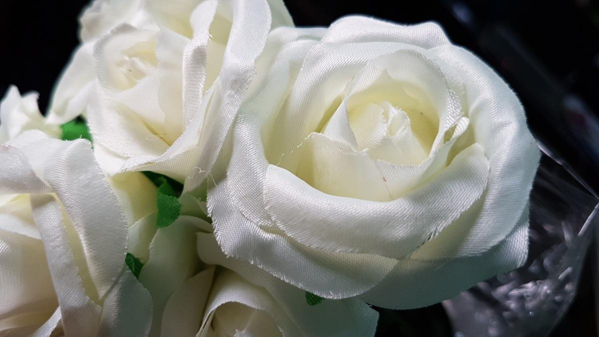 Ramos De 6 Rosas Blancas Salmon Rosado Hermosas Decoracion 199
