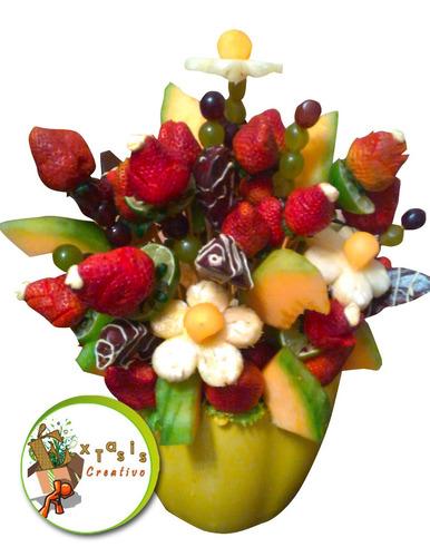 ramos de frutas, flores, desayunos y meriendas a domicilio