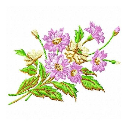 ramos florais 001 - coleção de matriz de bordado