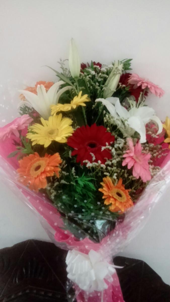 Ramos Flores Naturales Jerberas Rosas X 6 Unid 45000 En - Fotos-ramos-de-flores
