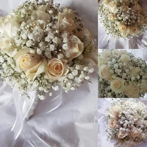 ramos novia tocados flores naturales