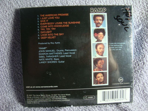 ramp - come into knowledge - cd importado