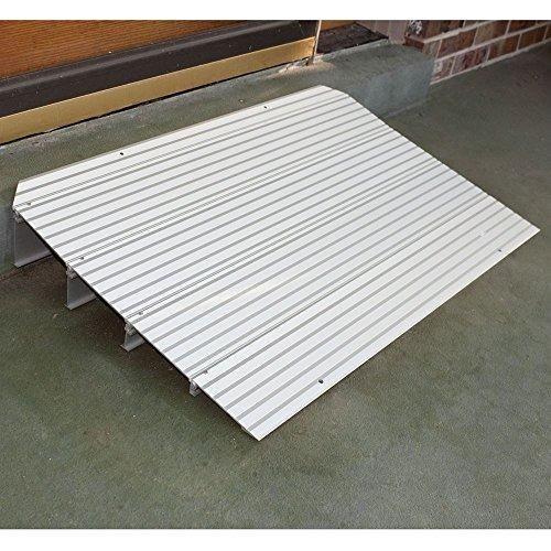 rampa de umbral de silla de ruedas de aluminio de 2 x 34