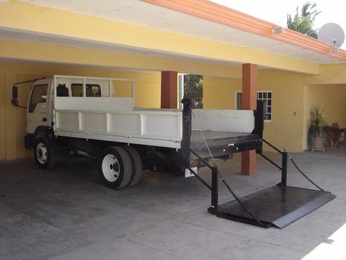 rampa hidráulica para doble rodado: chato, 3 1/2 ton, etc
