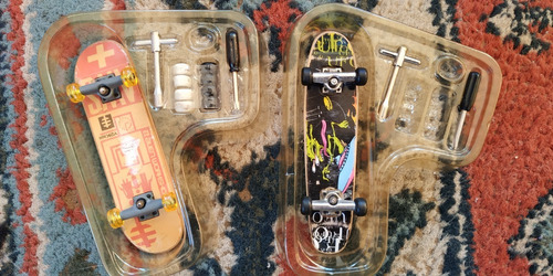 rampa tech deck tony hawk 1998 c/caja + fingerskate + extras