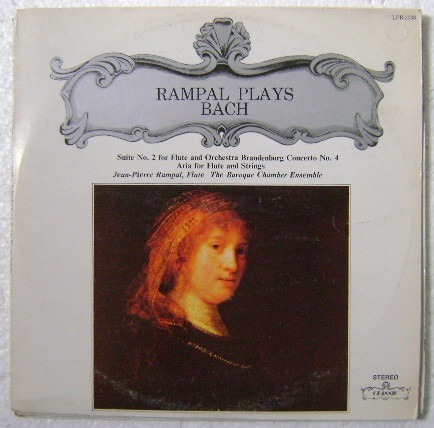 rampal plays bach / flute and orchestra   1 disco lp vinilo