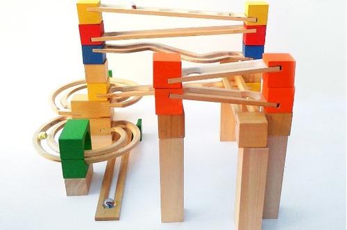 rampampa de madera tira bolitas de madera didactico jg