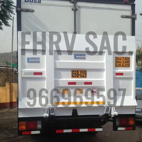 rampas hidráulicas, ala de gaviota y furgones.