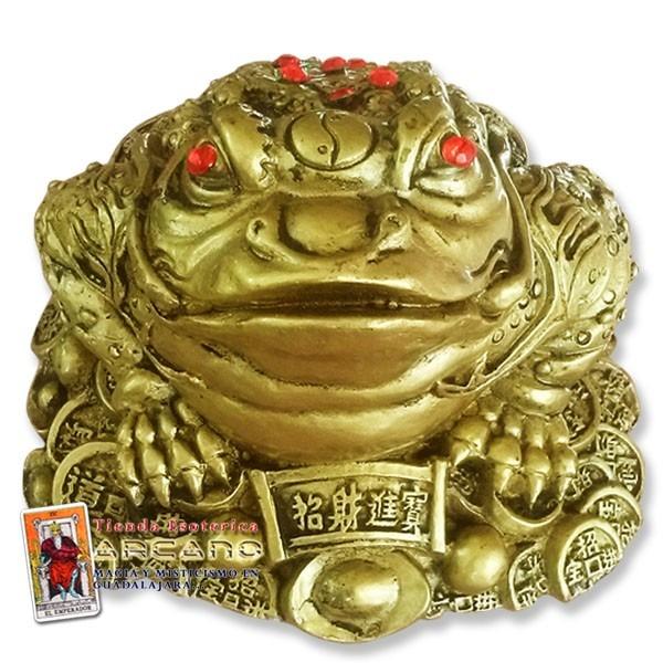 Rana de feng shui para abundancia y prosperidad 590 - Rana de tres patas feng shui ...