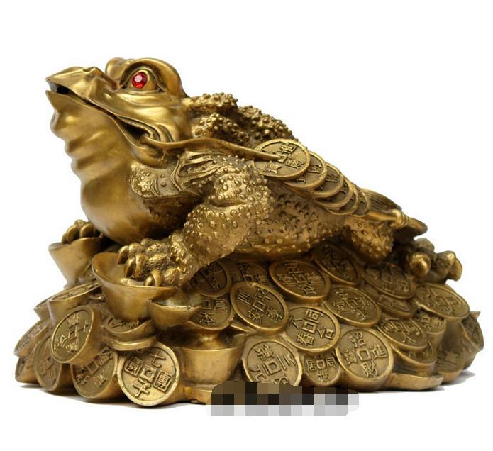 Rana de la suerte fortuna abundancia feng shui chan chu - Rana de tres patas feng shui ...