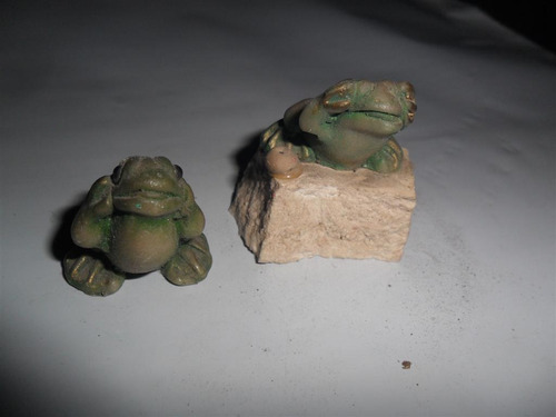 rana ranita sapo sapito miniatura decoracion piedra anfibio