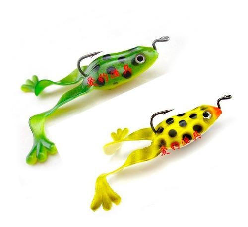 ranas señuelos anzuelo pesca cebos suaves carnada