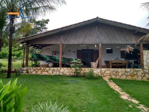 rancho com 4 dormitórios à venda, 1200 m² por r$ 425.000,00 - rural - abadiânia/go - ra0006