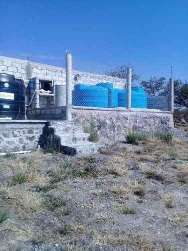 rancho con pozo y estanque para cría de mojarra, en tequisquiapan