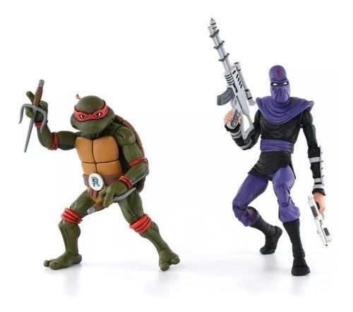 raphael vs foot soldier - teenage mutant ninja turtler -neca